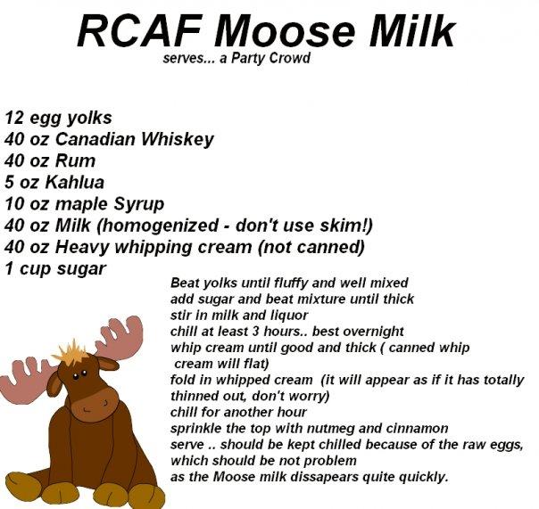 Moose Milk Canadian Drink